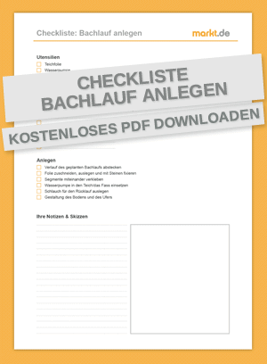 Checkliste für das Anlegen eines Bachlaufs