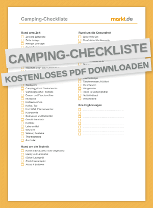 Checkliste Camping