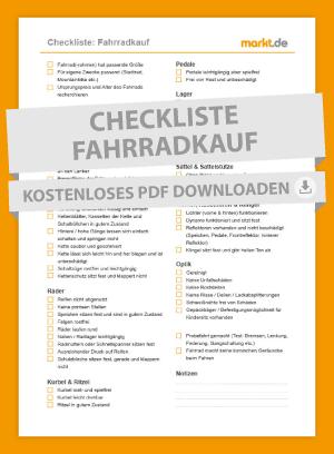 Checkliste Fahrradkauf