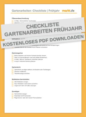 Checkliste Gartenarbeiten Frühjahr / Frühling