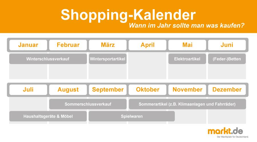 Checkliste Shopping-Kalender
