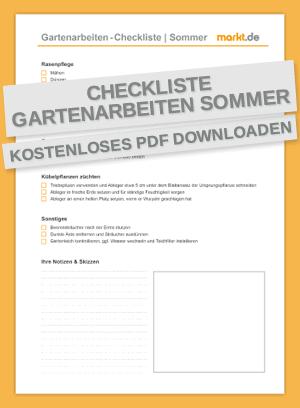 Checkliste Gartenarbeiten Sommer