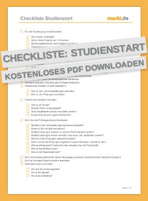Checkliste Studieren