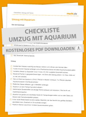 Checkliste Umzug Aquarium
