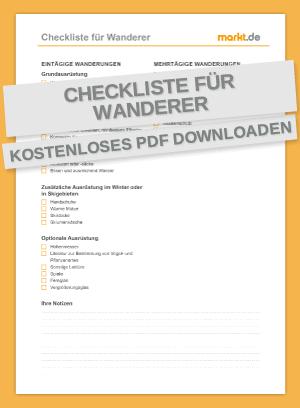 Checkliste Wandern