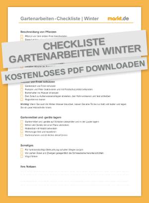 Checkliste Gartenarbeiten Winter