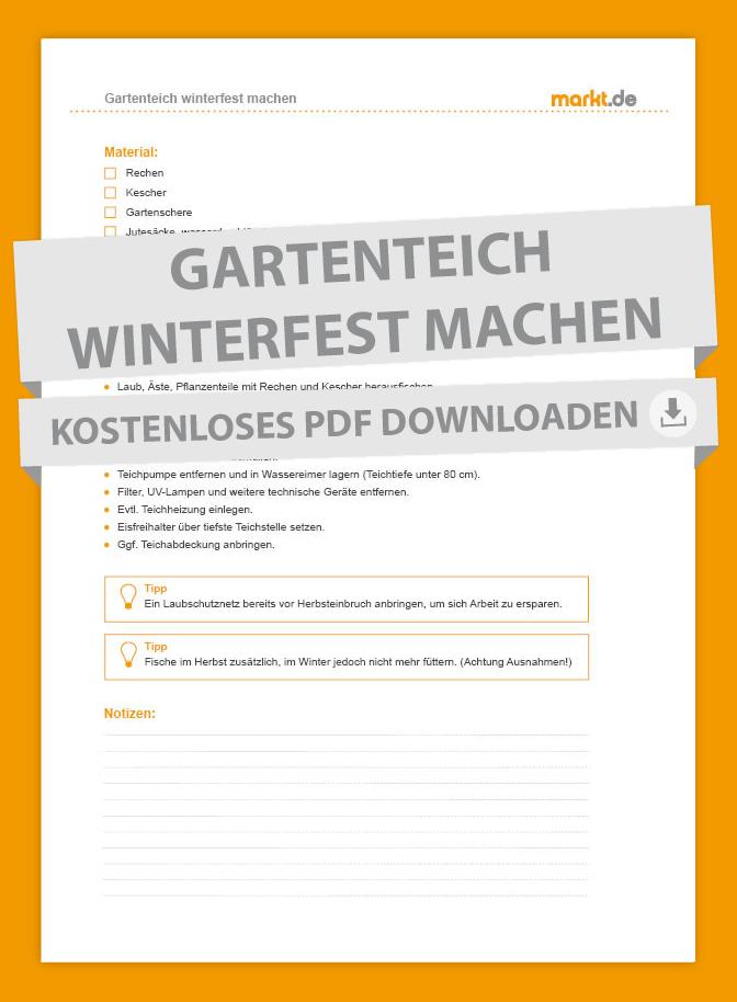Checkliste Gartenteich winterfest machen