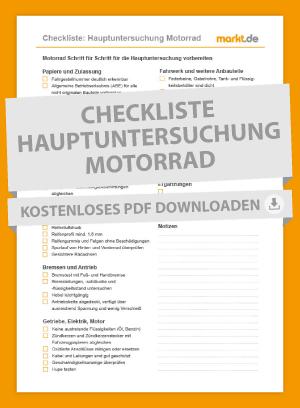 Bild Checkliste Vorbereitung Hauptuntersuchung Motorrad