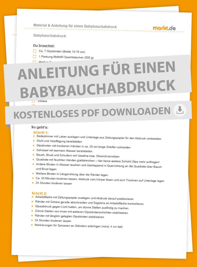 Anleitung für einen Babybauchabdruck