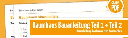 Grafik Bauanleitung DIY Baumhaus