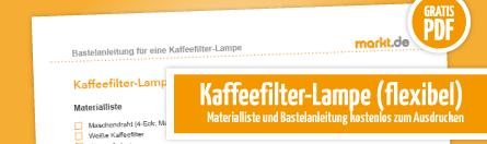 Grafik Anleitung flexible Kaffeefilterlampe