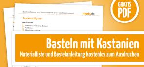 Grafik Download Basteln mit Kastanien