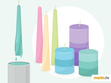 Grafik DIY Kerzen ziehen und gießen