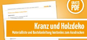 Grafik Download Kranz und Holzdeko basteln