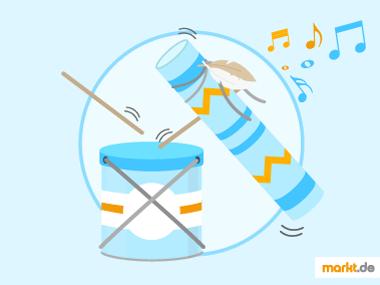 Grafik Musikinstrumente selber machen