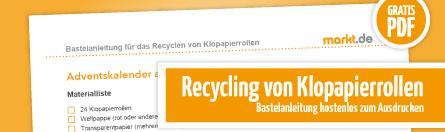 Grafik Recycling von Klopapierrollen
