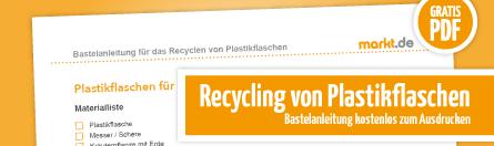 Grafik Recycling von Plastikflaschen