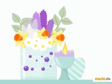 Grafik Tischdeko für Frühling selber machen