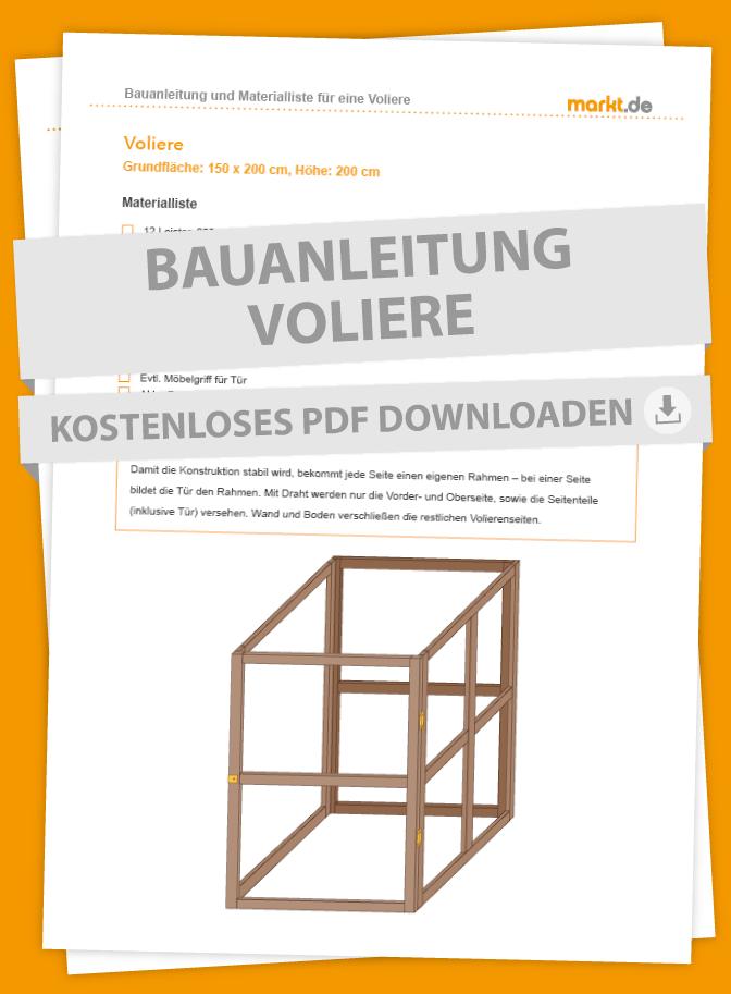 Bauanleitung für Voliere