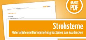Grafik Download Anleitung Strohstern basteln