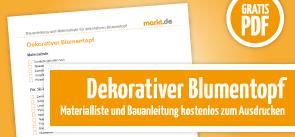 Grafik Download Anleitung für DIY dekorativer Blumentops