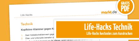 Grafik Anleitung Life Hacks für Technik