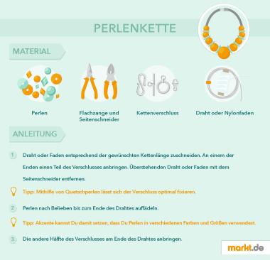 Grafik Perlenkette Anleitung DIY