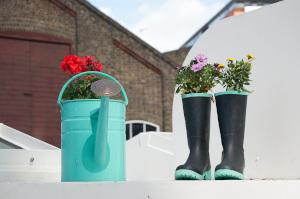 Recycling Blumentöpfe