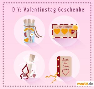 Grafik Do-it-yourself-Geschenke zu Valentinstag