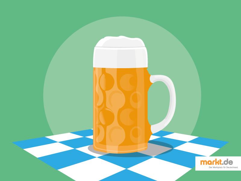 Grafik Bierkrug mit Oktoberfestbier