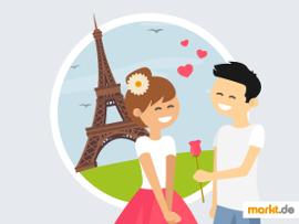Grafik Paar am Eiffelturm