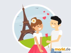 Grafik Pärchen am Eiffelturm