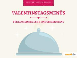 Grafik Valentinstag Menü-Vorschläge