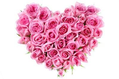 Bild Herz aus Rosen