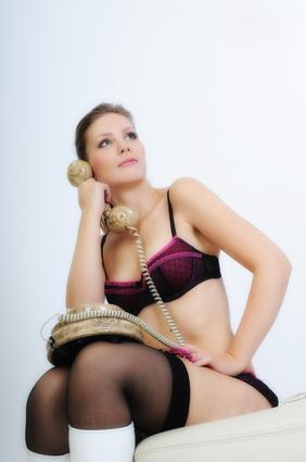 Bild Frau am Telefon / Telefonsex