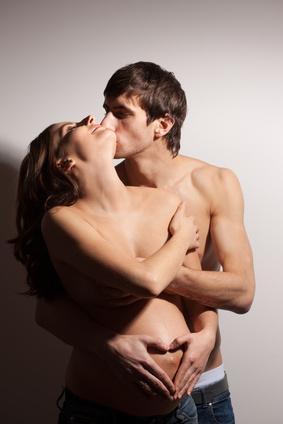 Schwangere Frau mit Partner