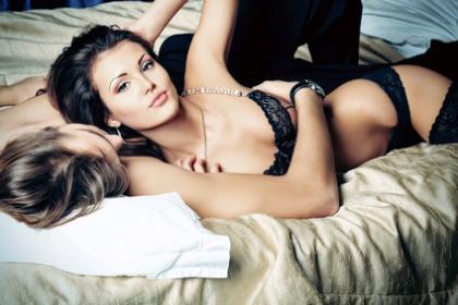 Dessous bieten einen erotischen Anblick für den Partner
