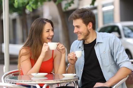 Paar bei Date