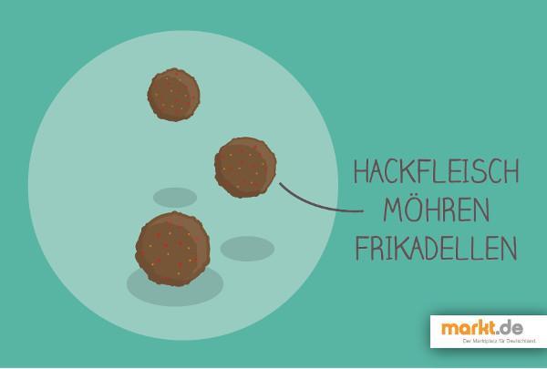 Grafik Hackfleisch - Möhren - Frikadellen Rezept