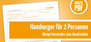 Grafik Rezept Hamburger für 2 Personen