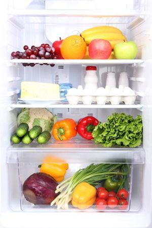 Bild Kühlschrank it Lebensmitteln