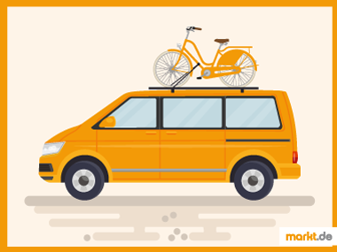 Grafik Fahrrad mit Auto transportieren