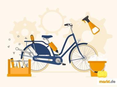 Grafik Wartung Reinigung Fahrrad