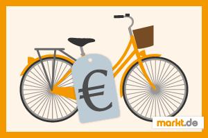 Grafik Fahrrad mit Preisschild