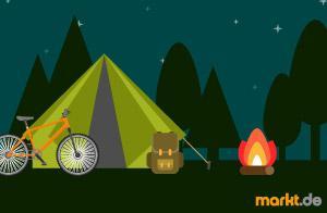 Fahrradurlaub mit Zelt und Lagerfeuer