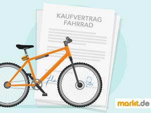 Grafik Kaufvertrag Fahrrad