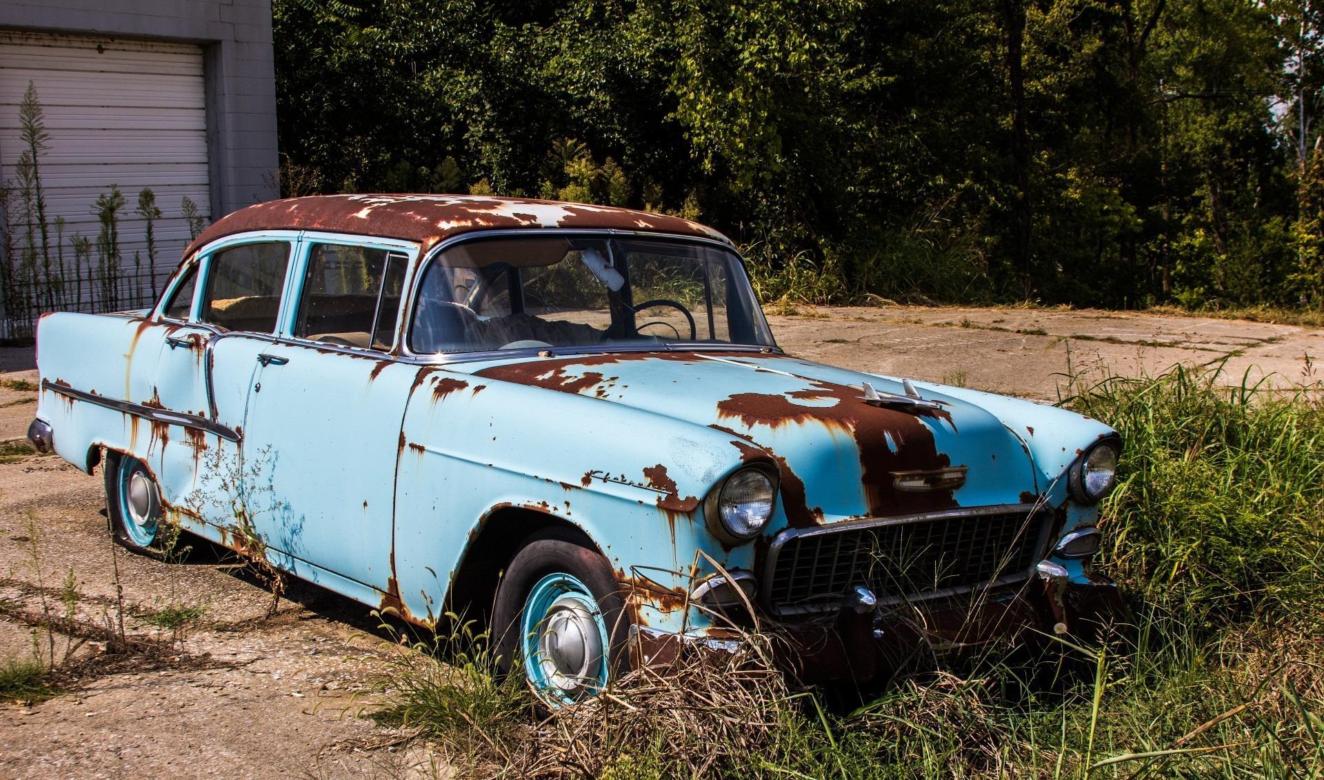 Bild rostiges Auto