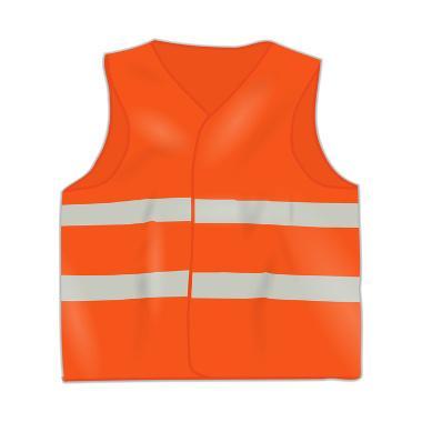 Bild Warnweste orange