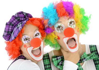 Bild Paar im Clownskostüm