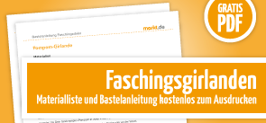 Grafik Download Faschingsgirlanden Bastelanleitung
